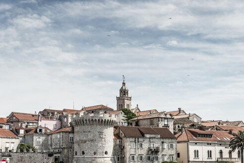 Croatia, Korcula, view to the old town - CHPF000264