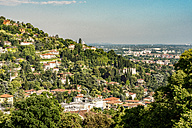 Italy, Brescia, view to hills of the city  from Colle Cidneo - CSTF001112