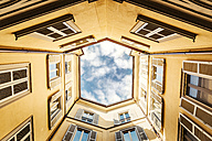 Italy, Milan, facades of a backyard seen from below - CST001136