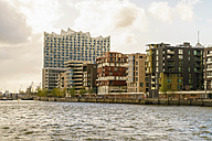 Germany, Hamburg, Hafencity, modern buildings, Elbe Philharmonic Hall in the background - TAMF000541