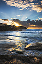 Australia, New South Wales, Tamarama, Beach at sunset - GOAF000047