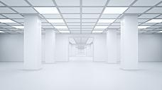 Futuristic empty storehouse, 3D Rendering - UWF000940