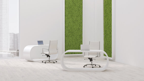 Modern office with living wall, 3D Rendering - UWF000951