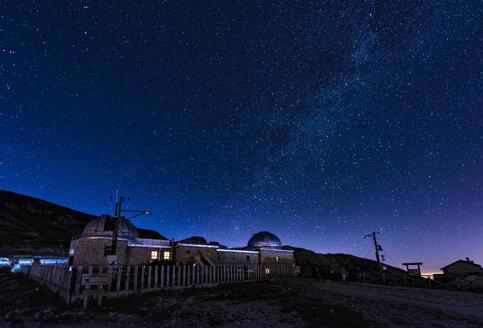 Italy, Abruzzo, Gran Sasso e Monti della Laga National Park, Milky way on Campo Imperatore, astronomical observatory - LOMF000356
