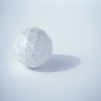 Low poly sphere, 3D Rendering - UWF000973