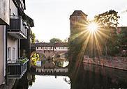 Germany, Nuremberg, view to Pegnitz River at twilight - SIEF007094