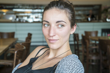 Portrait of woman in a coffee shop - TAMF000564