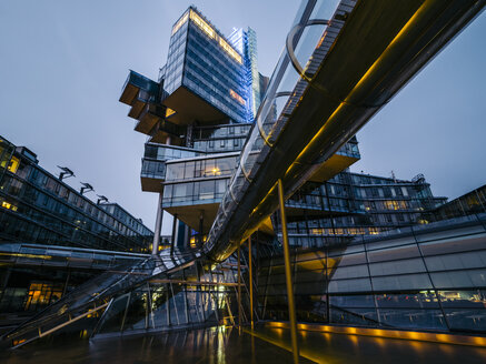Germany, Hannover, Futuristic architecture of Nord LB building - KRP001765