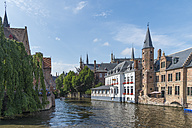 Belgium, Flanders, Bruges, Old town, canal and houses - FRF000456