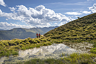 Couple hiking in the Alps - MKFF000325