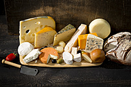 Cheese platter with different sorts of cheese - MAEF011967