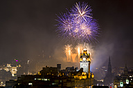 UK, Scotland, Edinburgh, Firework Display on Edinburgh International Festival - SMAF000578