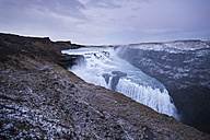 Iceland, Gullfoss waterfall at dusk - EPF000152