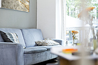 Empty couch in living room - WESTF021692