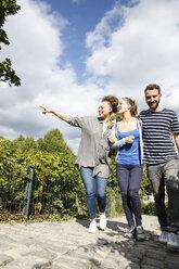 Happy friends walking in park - WESTF021737