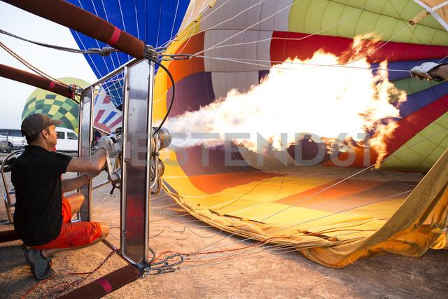 Hot air ballon is being prepared - ABZF01211
