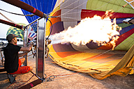 Hot air ballon is being prepared - ABZF01211