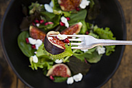 Mixed salad with goat cheese, pomegranate seeds and figs - LVF05320