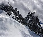 France, Chamonix, Alps, Petit Aiguille Vert, group of mountaineers - ALRF00709