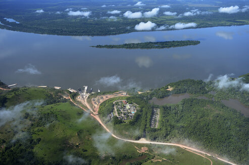 Brazil, Para, Itaituba, harbor used for illegal timber export - FLKF00706