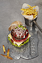 Juicy cheeseburger with french fries - SCF00454