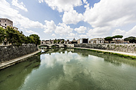 Italy, Rome, view to the city with Tiber river in the foreground - THAF01728
