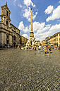 Italy, Rome, fountain with obelisk at Piazza Navona - THA01731