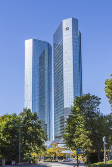 Germany, Frankfurt, modern skyscrapers at financial district - MAB00402