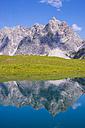 Germany, Bavaria, Allgaeu, Allgaeu Alps, Oy Valley, Lake Eissee, Mountain Grosser Wilder in the background - WGF00961