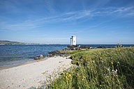 United Kingdom, Scotland, Inner Hebrides, Isle of Islay, Lighthouse near Port Ellen on Carraig Fhada - ELF01802