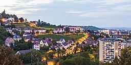 Germany, Baden-Wuerttemberg, Stuttgart, Killesberg, cityscape with houses, vineyards - WDF03756