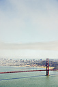 USA, California, San Francisco, Golden Gate Bridge as seen from Marin Headlands Vista Point - BRF01403