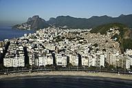 Brazil, Rio de Janeiro, Aerial photograph of Copacabana Beach - BCDF00027