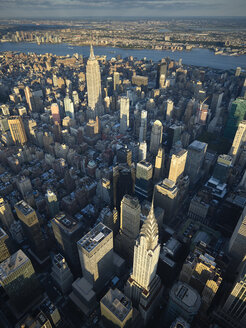 USA, New York City, Aerial photograph of Midtown Manhattan - BCDF00045