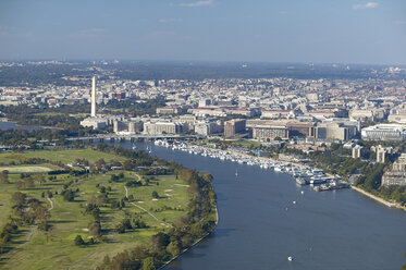 USA, Aerial photograph of Washington, D.C., Hains Point and the Washington Channel - BCDF00099