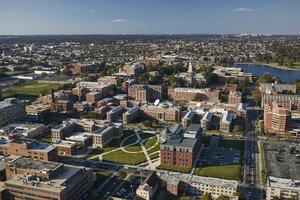 USA, Washington, D.C., Aerial photograph of Howard University campus - BCDF00105