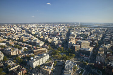 USA, Washington, D.C., Aerial photograph of the city with Dupont Circle - BCDF00108