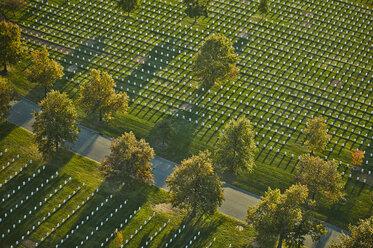 USA, Virginia, Aerial photograph of Arlington National Cemetery - BCD00114