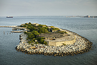USA, Virginia, Aerial photograph of Fort Wool on Rip Rap Island in the Chesapeake Bay - BCDF00153