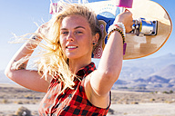 Spain, Tenerife, blond young skater - SIPF00892