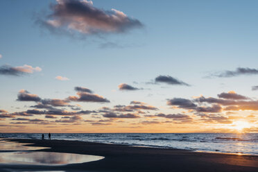 Denmark, North Jutland, tranquil beach at sunset - MJF02064