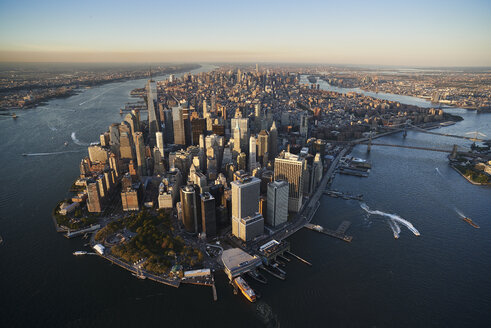 USA, New York, Aerial photograph of New York City and Manhattan Island - BCDF00169