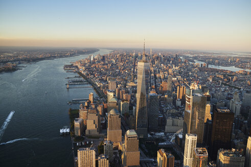 USA, New York, Aerial photograph of New York City and Manhattan Island - BCDF00172