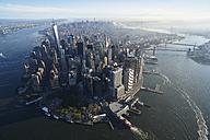 USA, New York, Aerial photograph of New York City and Manhattan Island - BCDF00175