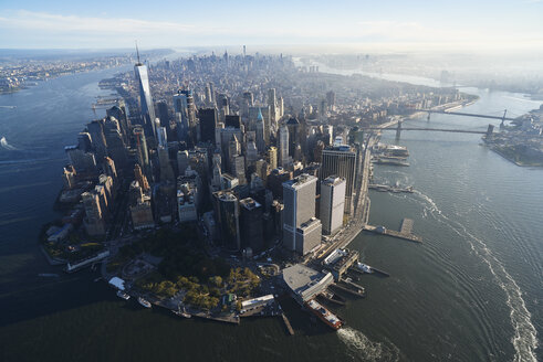 USA, New York, Aerial photograph of New York City and Manhattan Island - BCDF00175