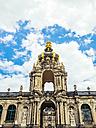 Germany, Dresden, Kronentor at Zwinger Palace - KRPF01857