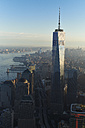 USA, New York, New York City, cityscape with World Trade Center and Hudson River - BCDF00195