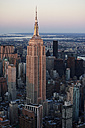 USA, New York State, New York City, Cityscape with Empire State building in the morning - BCDF00198