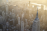 USA, New York State, New York City, Cityscape with Empire State building in the morning - BCD00204