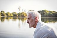 Serious senior man at a lake - ONF01032